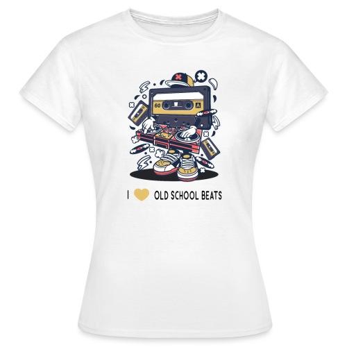 I Love Old School Beats Retro Design - Frauen T-Shirt