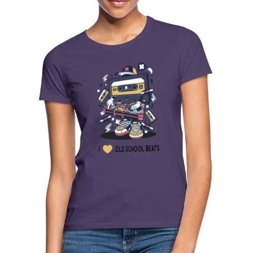I Love Old School Beats Retro Design - Frauen T-Shirt