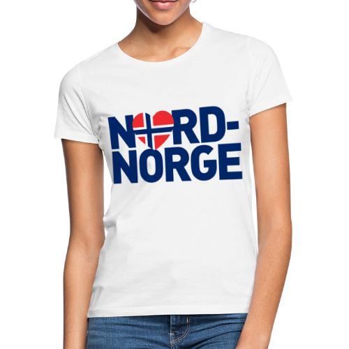 nordnorgehjertetekst01b2 - T-skjorte for kvinner
