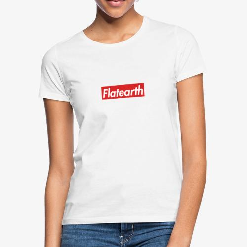 Red Flat Earth Box Logo - Women's T-Shirt