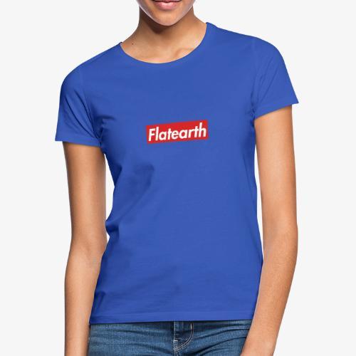 Red Flat Earth Box Logo - Women's T-Shirt