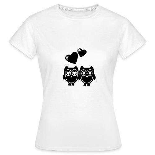 verliebte Eulen - Frauen T-Shirt