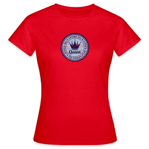 Apresski Queen Grunged Badge Shirt - Frauen T-Shirt