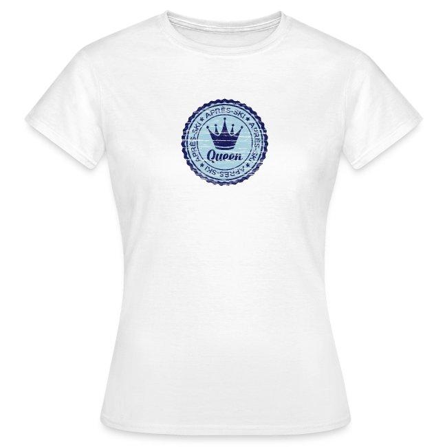 Apresski Queen Grunged Badge Shirt