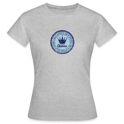 Apresski Queen Grunged Badge Shirt - Frauen T-Shirt