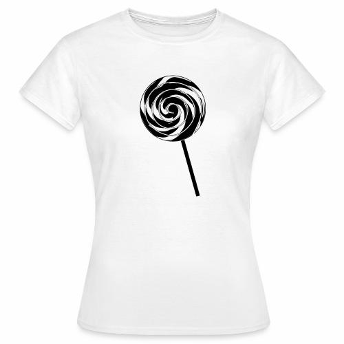 Retro Lutscher - Lollipop Design - Schwarz Weiß - Frauen T-Shirt