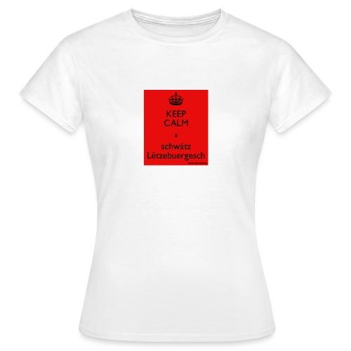 keepcalmaschwatzletzebuergesch - Frauen T-Shirt