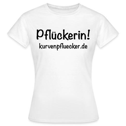 SVG Pflückerin url black - Frauen T-Shirt