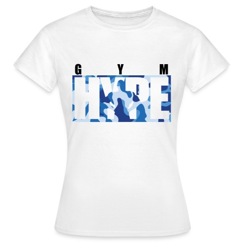 gymhype-shirt-2-blue-camo - Women's T-Shirt