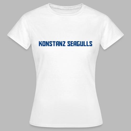 Schriftzug blau - Frauen T-Shirt