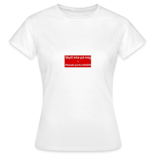 Jag röstade på alliansen - T-shirt dam