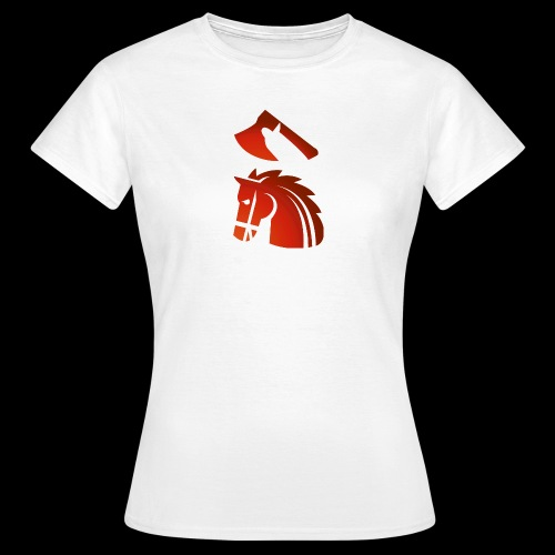 red horse with an axe above – Starykon-Kasprzyk - T-shirt Femme