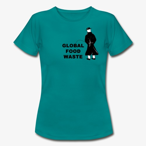 Pissing Man against Global Food Waste - Frauen T-Shirt