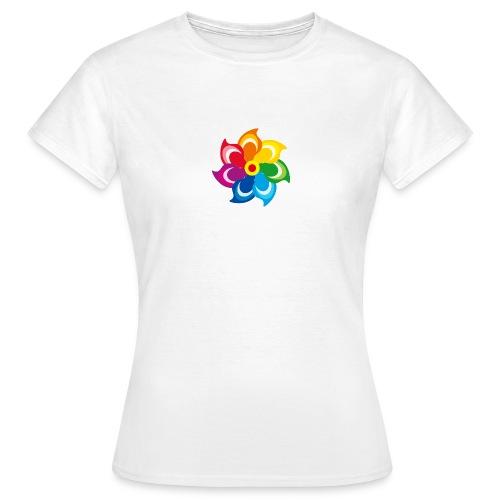 bunte Windmühle Kinderspielzeug Regenbogen Sommer - Women's T-Shirt