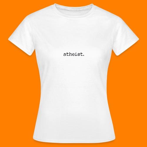 atheist BLACK - Women's T-Shirt