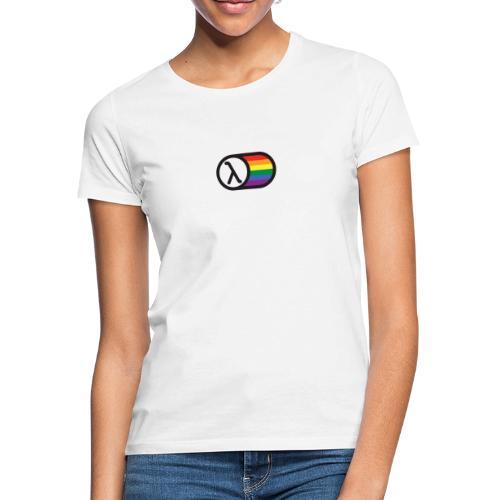 Lambda Regnbuelogo - Dame-T-shirt