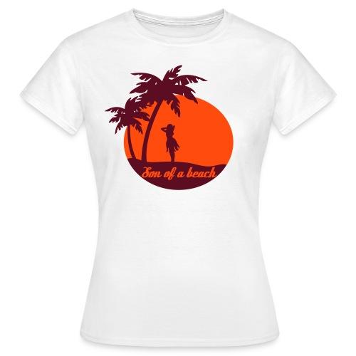 20110519 ytb shirt son rotorange pfade - Frauen T-Shirt