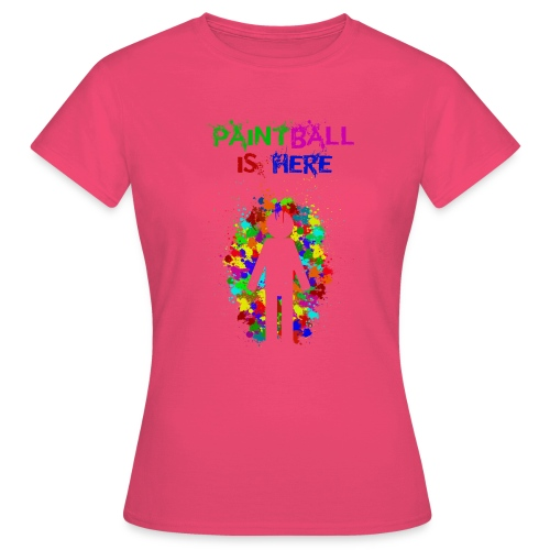 Community paintball is here - Camiseta mujer