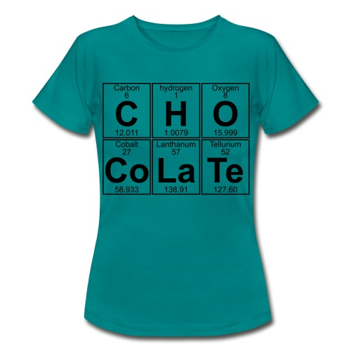 C-H-O-Co-La-Te (chocolate) - Full - Women's T-Shirt