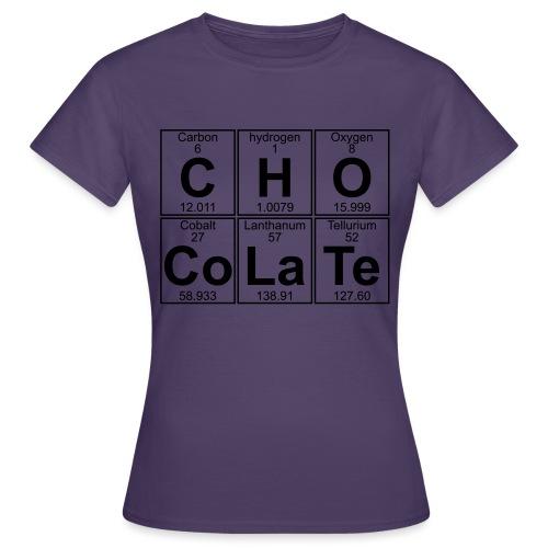 C-H-O-Co-La-Te (chocolate) - Full - Women's T-Shirt