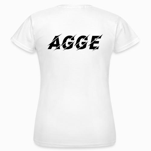 Agge - Svart Logga   Bak - T-shirt dam