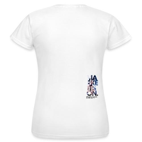LA 12 Text Back Small - Women's T-Shirt