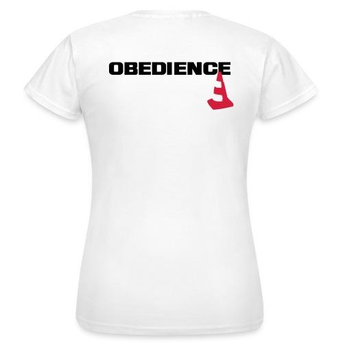 Obedience mit Pylone - Frauen T-Shirt