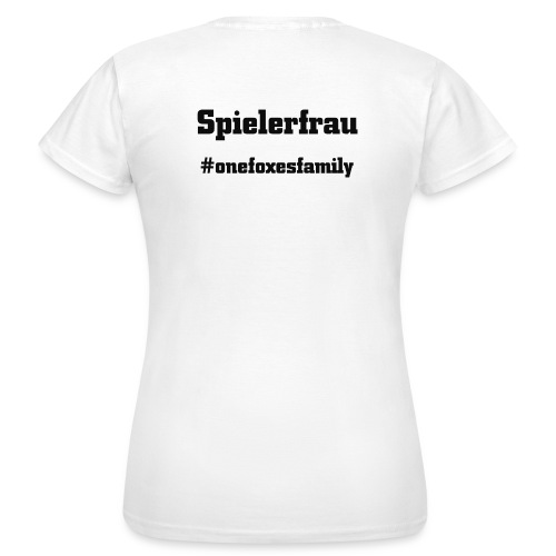 Spielerfrauschwarz - Frauen T-Shirt