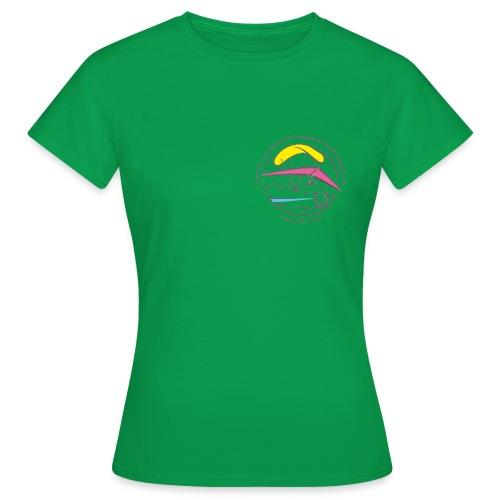 logo dgffn hg weiss transparent - Frauen T-Shirt
