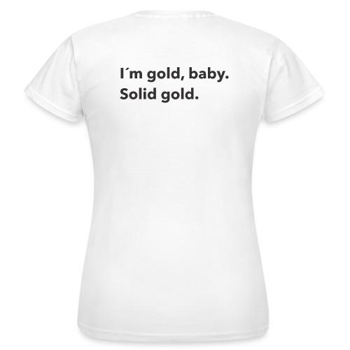 Gold baby - T-shirt dam