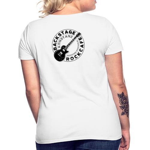 Backstage Logo einfach Schwarz - Frauen T-Shirt