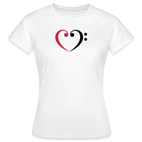 br lb heart - Frauen T-Shirt