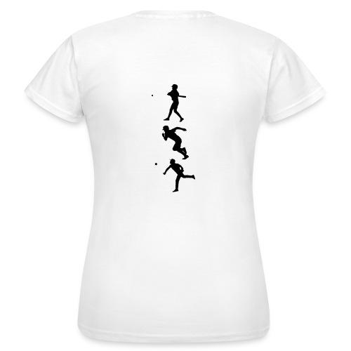 Hit Run Throw + Logo Arm - Frauen T-Shirt