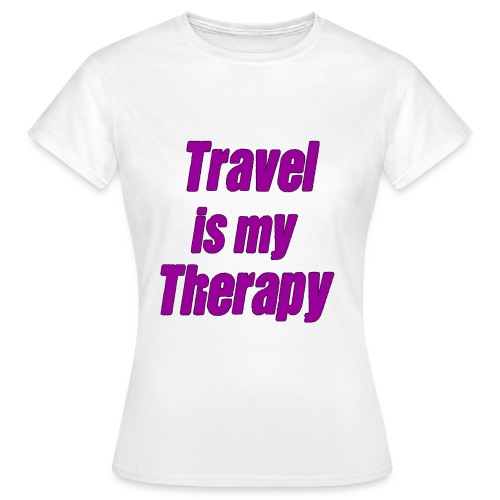 travel_is_my_therapy_vl - Maglietta da donna
