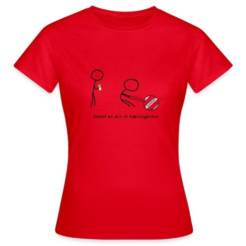 Kjærligheten2 png - T-skjorte for kvinner