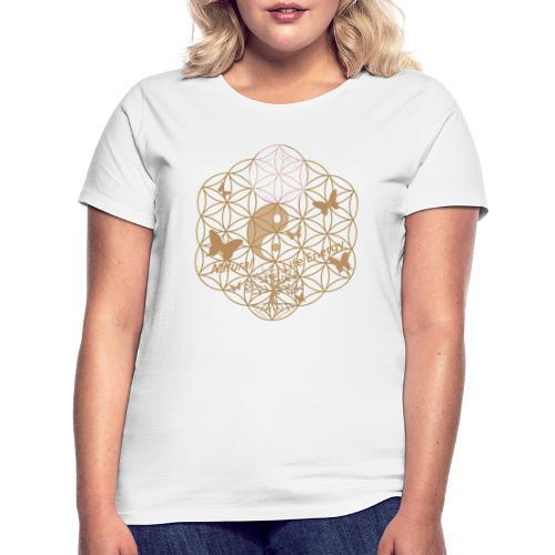 Das Leben umgeben von Energie. Blume des Lebens. - Frauen T-Shirt