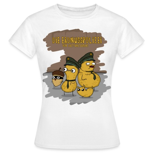 Erdnusspolizei2 png - Frauen T-Shirt