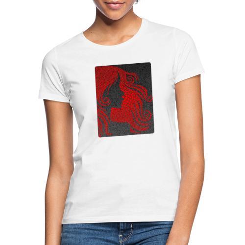 MonkeyShy femme avec cœurs rouge - T-shirt Femme