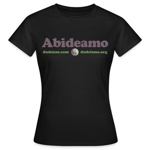 Abideamo - Maglietta da donna