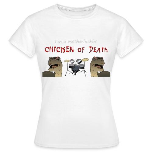 23 Chicken of death gif - T-shirt Femme
