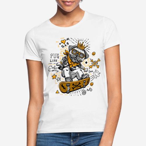 dog skate skateboard - Frauen T-Shirt