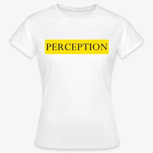 PERCEPTION CLOTHES JAUNE - T-shirt Femme