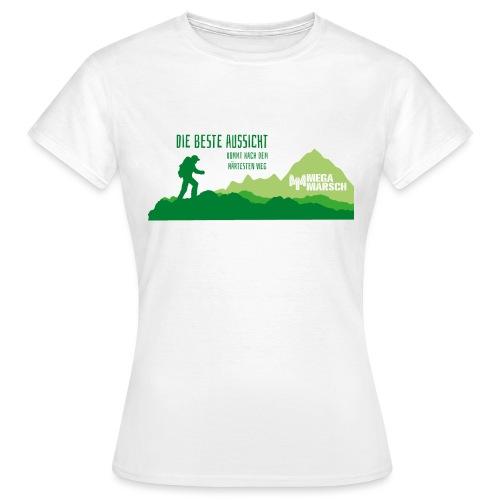 Megamarsch Die beste Aussicht (grün) - Frauen T-Shirt