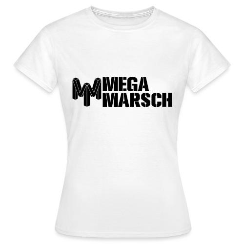 Megamarsch Logo (schwarz) - Frauen T-Shirt