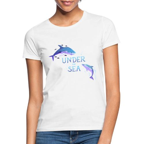 Under the Sea - Shark and Dolphin - Women's T-Shirt