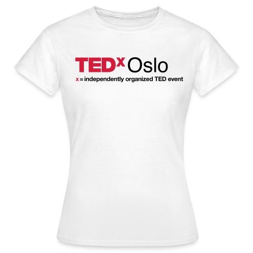 TEDxOslo slogan positiv - T-skjorte for kvinner