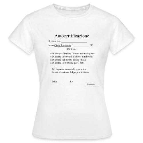 Autocertificazione della Decima - Maglietta da donna