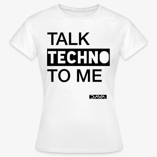 Talk Techno - black - Women's T-Shirt