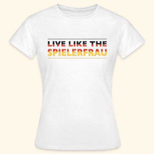 Live like the Spielerfrau Flagge 5512x5512 png