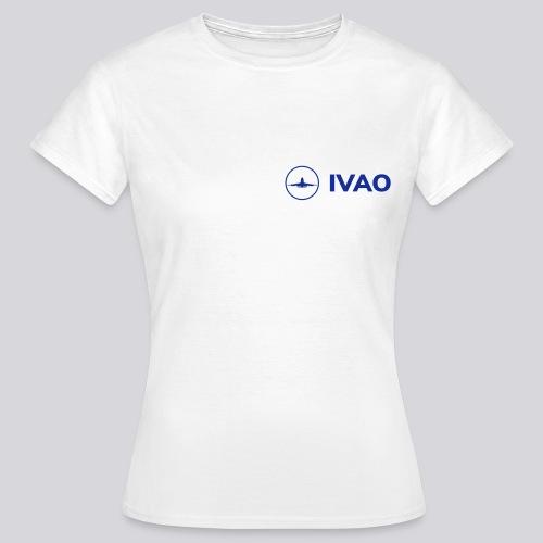 IVAO (Logo bleu complet) - T-shirt Femme
